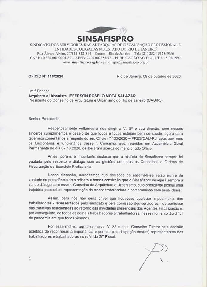 CAU revê decisão quanto a participação dos trabalhadores em GT